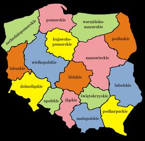 Podział map